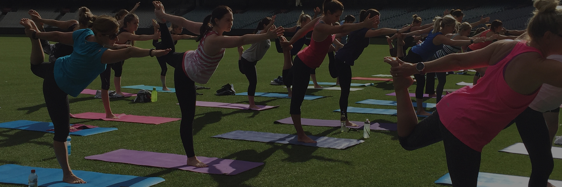 Young Members Yoga At The MCG